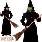 Wicked Witch Ladies Fancy Dress Halloween Witches Womens Adults Costume Outfit