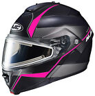 HJC IS-Max II Snow Mine Pink Black Electric Shield Modular Snowmobile Helmet