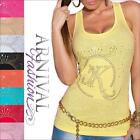 NEW SLEEVELESS SHIRTS for WOMEN 6 8 10 TANK TOPS for LADIES SINGLET size XS S M