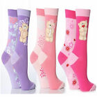 LADIES 6PK CUTE VALENTINE FOREVER FRIENDS PINK PURPLE RED HEARTS SOCKS 4-8 SIZE