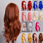 Bright Colorful Cosplay Anime Stage Long Curly Wig Party Costume Fake Hairpiece