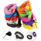 2M Braided Fabric Micro USB Data Sync Charger Cable Cord For Samsung