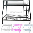 New Metal Bunk Bed Single Double Triple Children Kids Sleeper Frame No Mattress