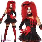 LADIES JESTERINA JESTER CLOWN CIRCUS HALLOWEEN ADULT WOMENS FANCY DRESS COSTUME