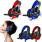 Surround Stereo Gaming Headset Headband Headphone 3.5mm LED w/ Mic for PC Laptop