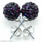 10mm STUD EARRINGS - SHAMBALLA CRYSTAL CLAY DISCO BALL EARRINGS