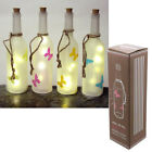 Decorative Frosted Butterfly Bottle with LED Lights Blue,Green,Orange or Pink BN