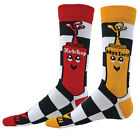 KETCHUP AND MUSTARD Mismatched Crew Socks unisex youth novelty fun gift
