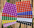 "Round Stickers ~3/4"" 10 Colors Available 336 Pack 7 Sheets 0.7 Inch Dots 17mm"