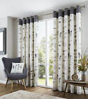 Charcoal Grey100% Cotton Heavy  Ringtop Eyelet Curtains.Choose from 3 sizes