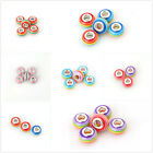 20pcs Hot Sale Mixed Color Lampwork Rainbow Stripe Design Bead European Charms C