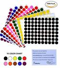 """Color Coding Labels 1/2"""" 17 colors available half inch dots sheet 13mm 1200 pack"""