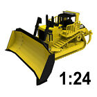 1:24 Large Scale Caterpillar D11 Dozer Wooden Model, Heavy Cat 11 Ton Excavator
