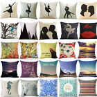 Elegant Ballet Cotton Linen Pillow Case Standard Pillow Cover Home Decor