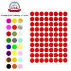 """Royal Green Round Stickers 1/2"""" 24 Colors Available 1200 Pack 15 Sheets 13mm"""