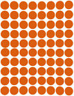 Colored Dot Stickers Round circle Label 1/2