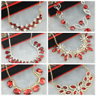 Glamorous Red Crystal Necklace for Party, Formal, Wedding - Wholesale Price