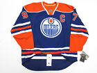 "CONNOR McDAVID EDMONTON OILERS AUTHENTIC HOME REEBOK EDGE 7231 JERSEY WITH ""C"""