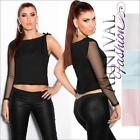 NEW SEXY one mesh arm TOPS girls 6 8 10 12 BLOUSE ONE SLEEVE TOP SHIRT XS S M L