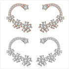 1Pairs New Women's Charms Exquisite Curved Zircon Flower Design Stud Earring C