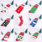 Women Men Christmas Snowman Thick Stocking Winter Multicolor Warm Soft Socks