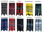 Scotish Mens Kilt Hose Sock Flashes Various Tartans All Kilts Sports