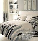 -30% SALE , 8 PEICE BUMPER DUVET SET inc CURTAINS & FITTED SHEET -  GREY/BLACK