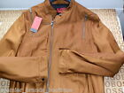 NEW HUGO BOSS MENS BROWN DESIGNER SUIT SMART CASUAL FITTED BOMBER COAT JACKET XL