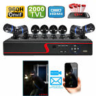 8CH/4CH  CCTV 1080p DVR 2000TVL IR Video Cameras Home Security System IP CAMERA