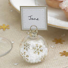 Christmas Bauble Place Card Holders &/or place cards, Winter Wedding Gold