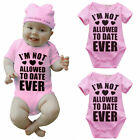 Newborn Infant Baby Girls Cotton Bodysuit Romper Jumpsuit Clothes 0-18M Pink