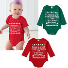 Christmas Newborn Baby Boy Girls Romper Bodysuit Jumpsuit Outfits Clothes 0-18M