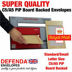 A5 C5 238mm X 163mm PiP DEFENDA BOARD BACKED ENVELOPES Hard Card Back Mailers