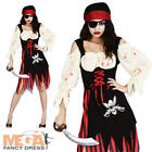 Zombie Pirate Halloween Ladies Fancy Dress Horror Adult Costume Outfit UK 6-24