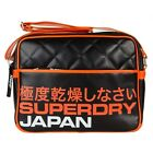 New Mens Superdry Black Primary Polyester Shoulder Bag Messenger Bags
