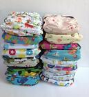1 Baby Cloth Nappy Insert Nappies Charcoal Bamboo New One Size Inserts Patterned
