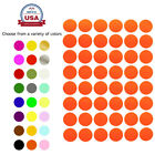 """Color Coded Stickers ~3/4"""" 17 mm Bottle Caps Dots 10 Colors Available 720 Pack"""