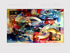 540A LARGE CANVAS MULTI WALL ART SUPERNOVA MANGALA ABSTRACT ROOM Print picture
