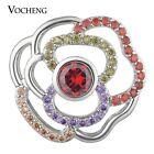 20PCS/Lot CZ Stone Vocheng Snap Charms Luxury Jewelry Copper Material Vn-1635*20