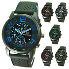 GT Men's Casual Silicone Stainless Steel Wrist Watch ED $2.73 USD
