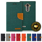 GOOSPERY® Canvas Diary Media Flip Stand Card Pocket Wallet Case Cover for LG G4