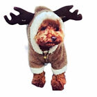 Fancy Xmas Reindeer Dog Costumes Pet Cat Coat Sweaters Dog Clothing Puppy Outfit