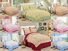 SkylineWears 3 Piece Quilt Set Embroidered Hypoallergenic Quilted Bedspread