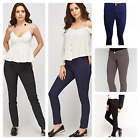 Ladies New Ex-Zra woman Skinny Spandex waist Jeans Trouser Black, Indigo & Grey