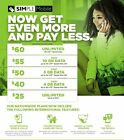 SIMPLE MOBILE PRELOADED SIM CARD FIRST MONTH FREE** $60 Unlimited 4G LTE