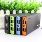 AU 4USB 50000mAh External Power Bank LED Backup Battery Charger For Mobile Phone