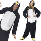 Adult Penguin Jumpsuit Christmas Party Festive Fancy Dress Costume Smiffys 23632