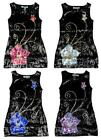 Girls Bold Flower Sequin Front Party Glitzy Sleeveles Fashion Dress 3 - 12 Years