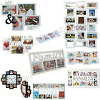 HOME DECOR MULTI PHOTO PICTURE WALL MOUNTED FRAMES GIFT SET MR & MRS FAMILY LOVE