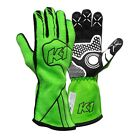 Neon Green Auto Racing Nomex Glove Champ K1 RaceGear